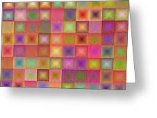Colorful Textured Squares Greeting Card