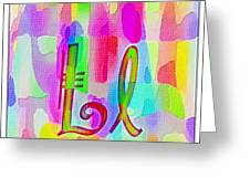 Colorful Texturized Alphabet Ll Greeting Card