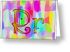 Colorful Texturized Alphabet Rr Greeting Card