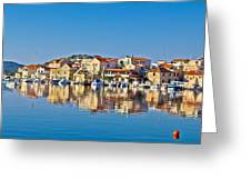 Colorful Town Of Tribunj Waterfront Greeting Card
