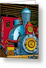 Colorful Train Greeting Card