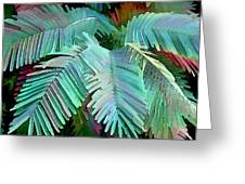 Colorful Tropical Leaves In The Jungle Greeting Card