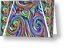 Colorful Twirl Wave Shield Design Background Designs  And Color Tones N Color Shades Available For D Greeting Card