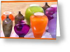 Colorful Vases I - Still Life Greeting Card