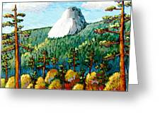 Colorful View Of Idyllwild California Greeting Card