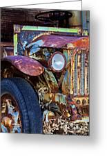 Colorful Vintage Car Greeting Card
