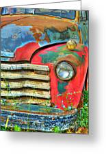 Colorful Vintage Truck Greeting Card