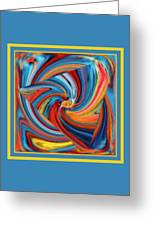 Colorful Waves Greeting Card