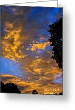 Colorful Western Sky At Sunrise Greeting Card