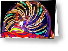 Colorful Wheel Of Lights Greeting Card