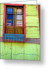 Colorful Window Greeting Card