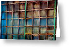 Colorful Windows  Greeting Card