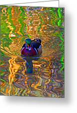 Colorful World Of Wood Duck Greeting Card
