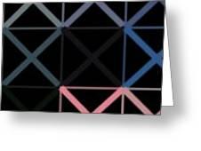 Colorful X Box Greeting Card