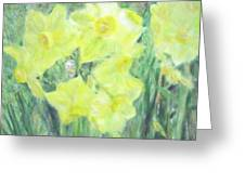Colorful  Yellow Flowers Greeting Card