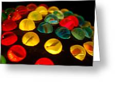 Colorfull Marbles Greeting Card
