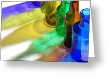 Coloring Bottles Greeting Card