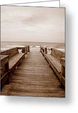 Colorless Seascape Greeting Card