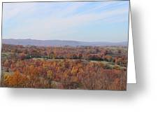 Colors Across The Valley. Greeting Card