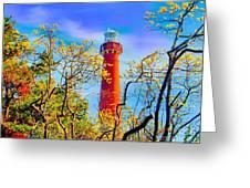 Colors At Barnegat Light Greeting Card