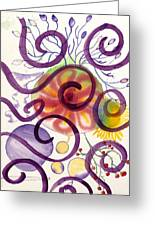 Colors In Space Greeting Card
