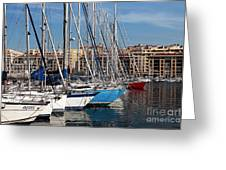 Colors In The Port Greeting Card by John Rizzuto