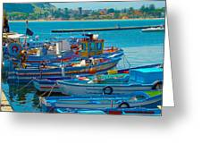 Colors Of A Fishing Fleet Greeting Card