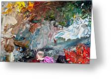 Colors Of Artist's Palette Greeting Card