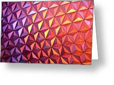 Colors Of Epcot Greeting Card