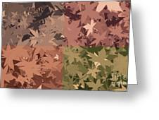 Colors Of Fall Leaves Abstract Greeting Card