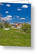 Colors Of Gospic Capital Of Lika Greeting Card