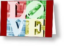 Colors Of Love Philadelphia Pa Greeting Card