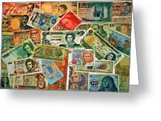 Colors Of Money Greeting Card