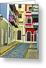 Colors Of Old San Juan Puerto Rico Greeting Card