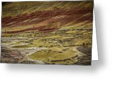 Colors Of Painted Hills Greeting Card