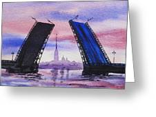 Colors Of Russia Bridges Of Saint Petersburg Greeting Card