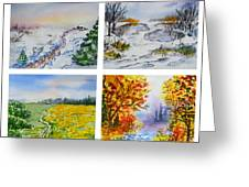 Colors Of Russia Four Seasons Greeting Card