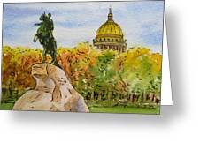 Colors Of Russia Monuments Of Saint Petersburg Greeting Card