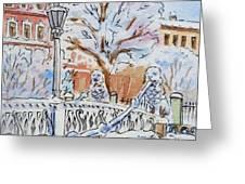 Colors Of Russia Winter In Saint Petersburg Greeting Card