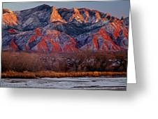 214501-colors Of Sandia Crest  Greeting Card