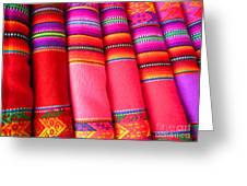 Colors Of South America Greeting Card