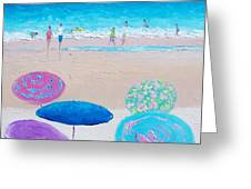 Colors Of Summer Beach Painting Greeting Card