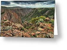 Colors Of The Black Canyon Greeting Card