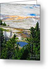 Colors Of Yellowstone Greeting Card