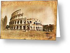 Colosseum Grunge Greeting Card
