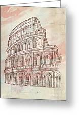Colosseum Hand Draw Greeting Card