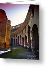 Colosseum Interior Greeting Card