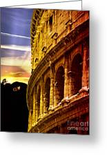 Colosseum Sunset Greeting Card