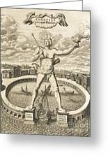 Colossus Of Rhodes, 17th-century Artwork Greeting Card