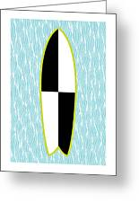 Colour Block Surfboard Greeting Card